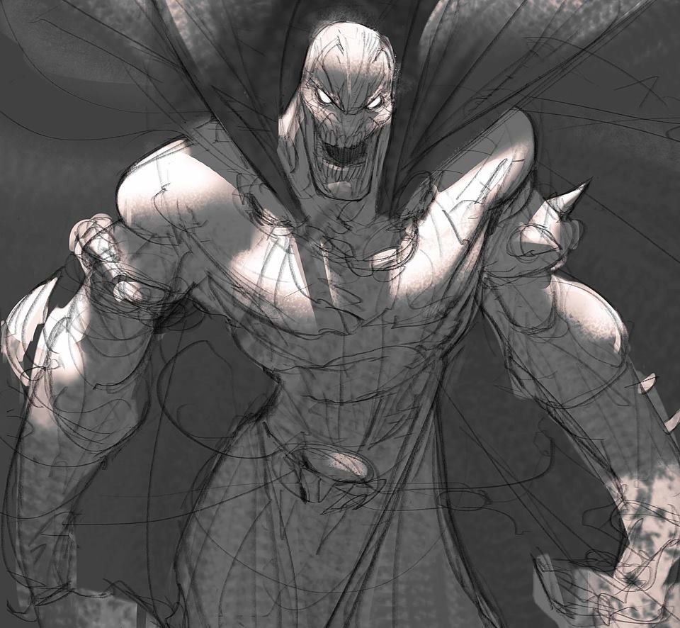 Drawing Time, I don't know how many of you know this buddy but is one of my childhood heroes, yep that's right, no Superman no Spidey... SPAWN!