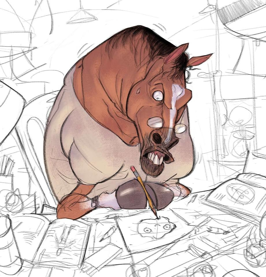 """""""Horses have no fingers"""" Day 16 Drawmybeast  People think that """"you can do it"""" is a good way of motivation and it's true but sometimes """"You can't do that"""" is more powerful. Especially when you are in the bottom and the only alternative is going up."""