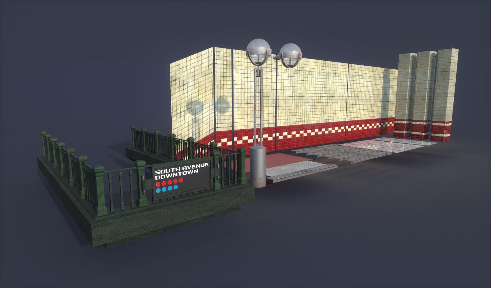 FPS Level - Modular Subway - WIP