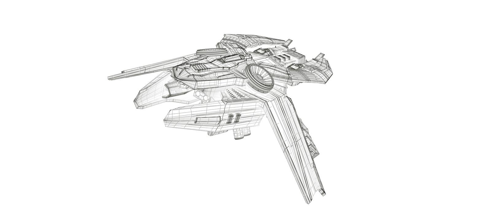 Starship - Wireframe
