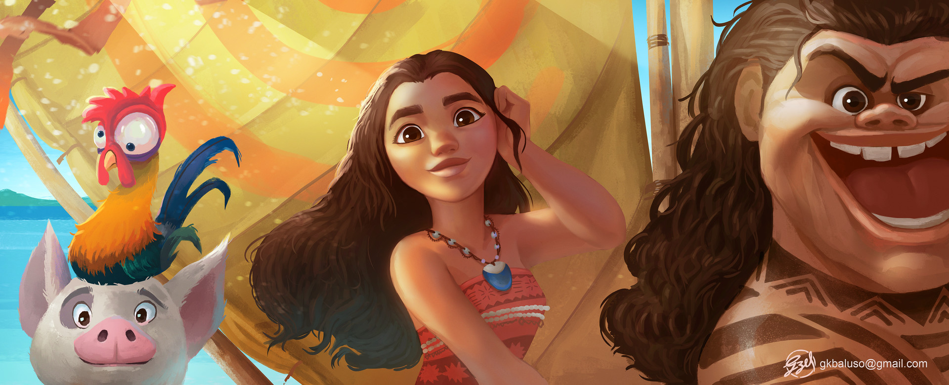 We've watched Moana  and fell in love with all there is to it. <3 Ever since, I've been listening to the soundtrack.