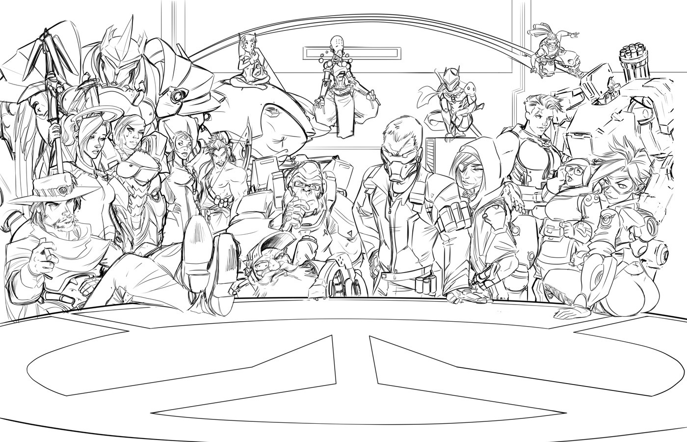 Comfort love and adam withers overwatch for Overwatch coloring pages
