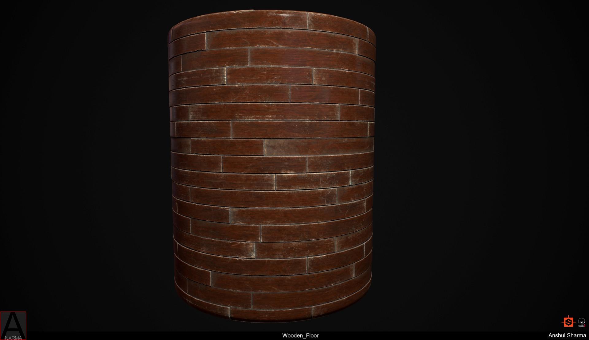 Anshul sharma wooden floor cylinder