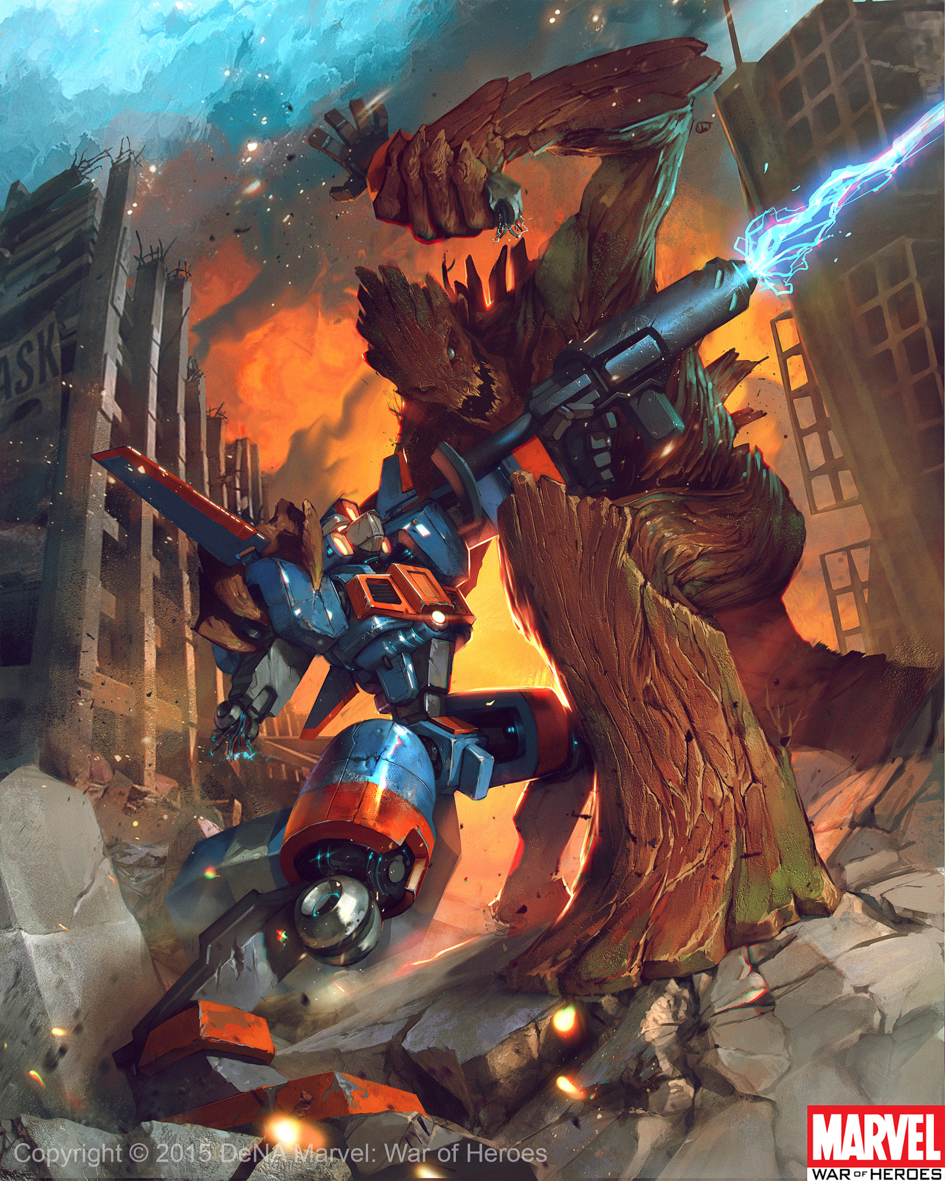 Denys tsiperko groot vs rocketracoon