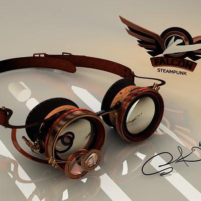 Falcon Steampunk goggles