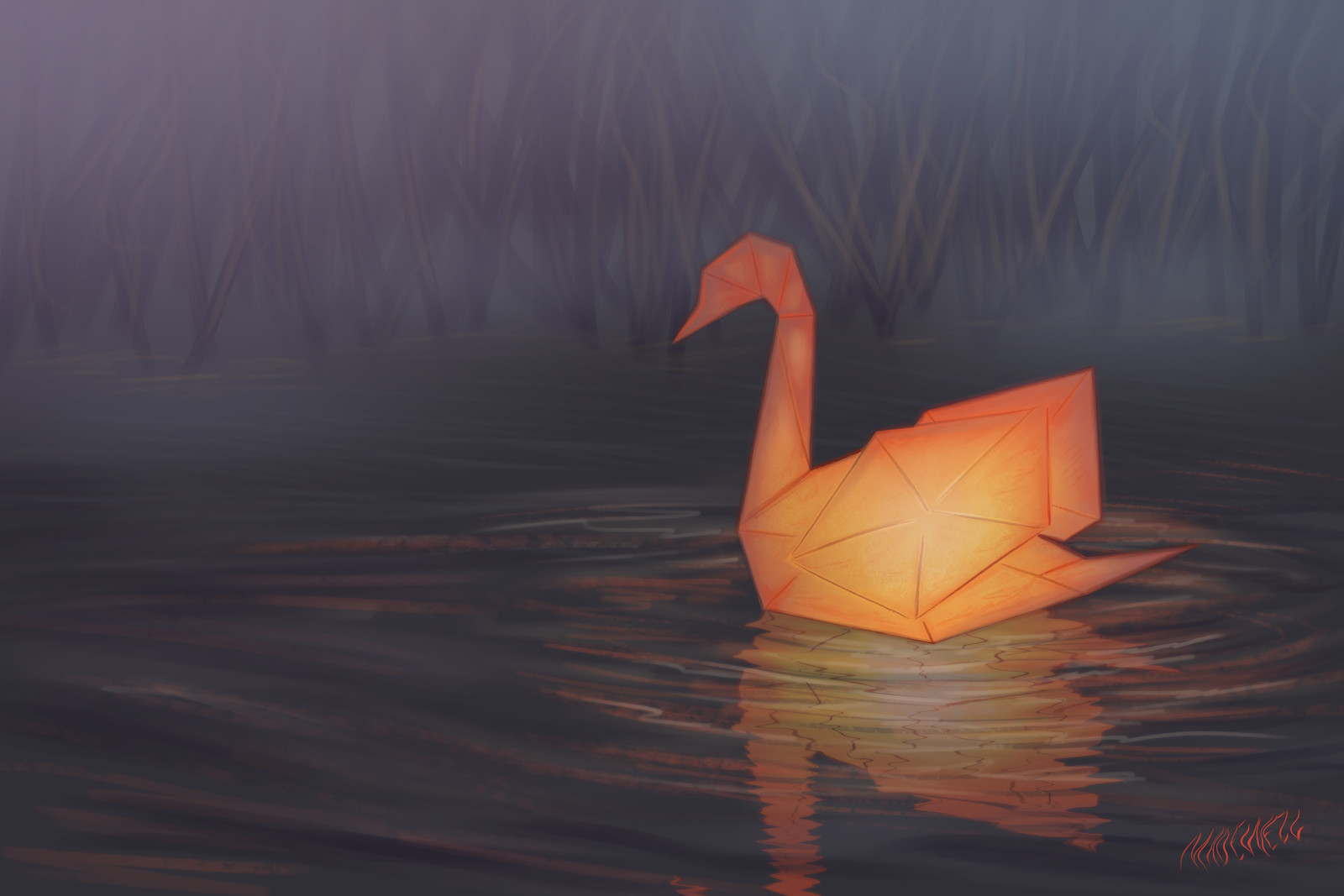 Mute Swan Lantern