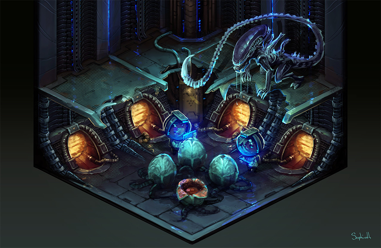 Isometric Aliens Scene