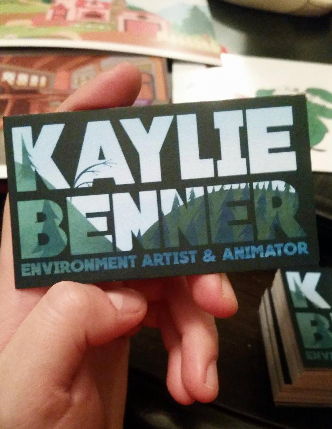 Kaylie benner holding card