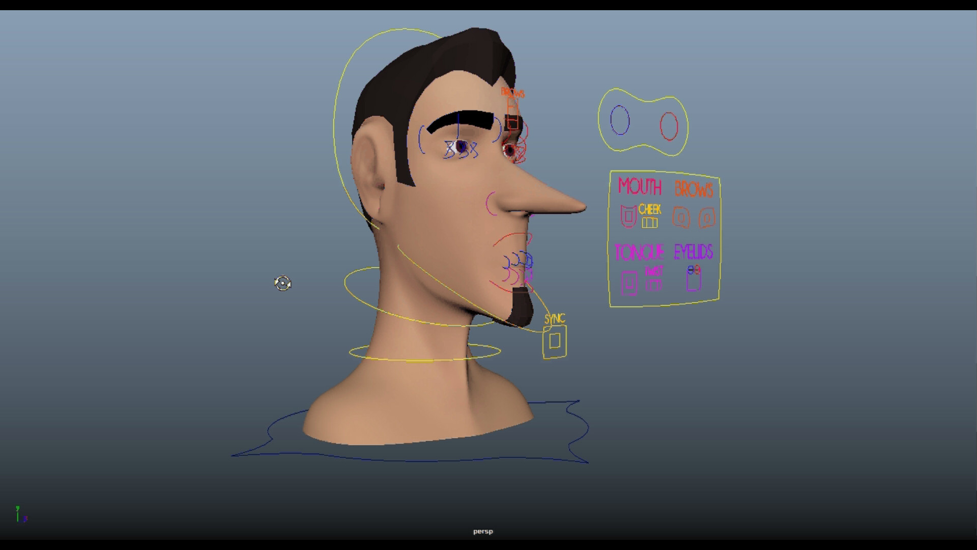 ArtStation - Facial Rig & Short Animation Project - The Raven, Luis