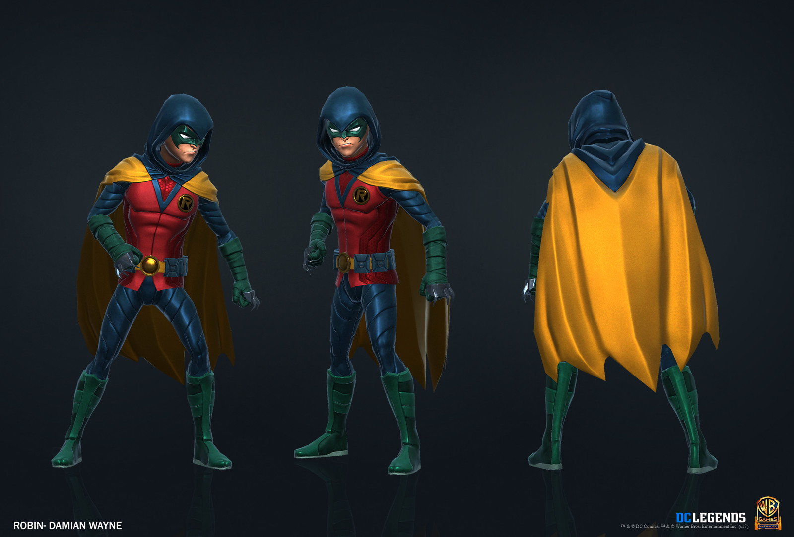 Robin Heroic.  High Poly, Low Poly and Textures/Material work done by me. Additional Texture/Material pass done by Rachelle Danielle.