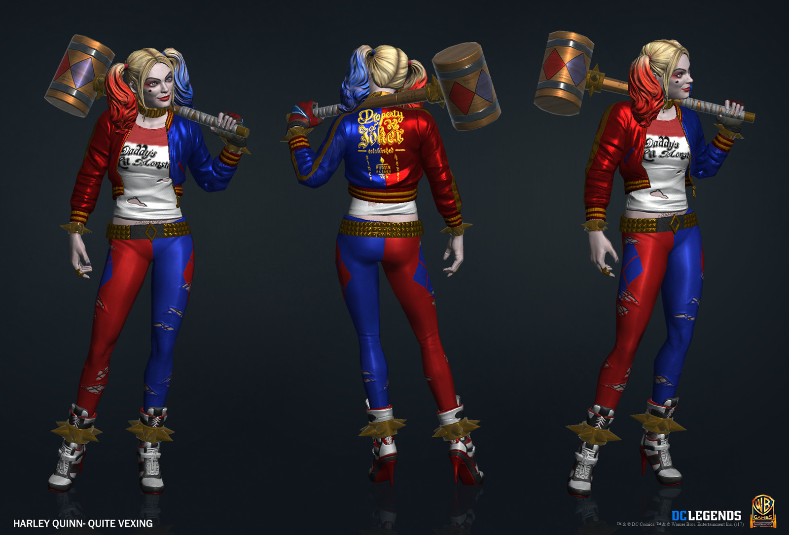 Harley Quinn Suicide Squad Legendary High Poly, Low Poly and Textures/Material work done by me.