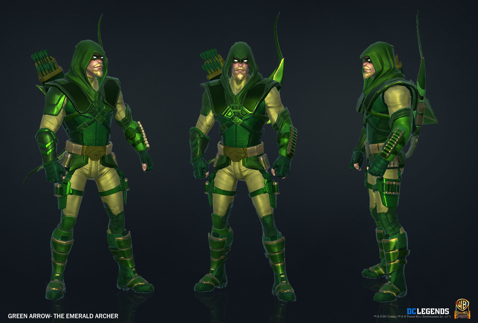 Green Arrow Legendary. High Poly, Low Poly and Textures/Material work done by me. Additional Texture/Material pass done by Josiah Martinez.