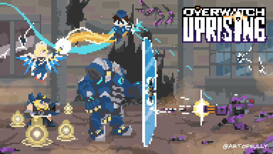 'Uprising' - Overwatch Pixel Animation