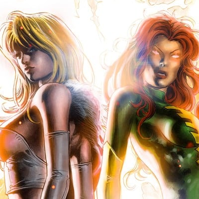 Marcos martins emma frost and phoenix