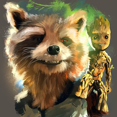 Marcos martins rocket and groot color