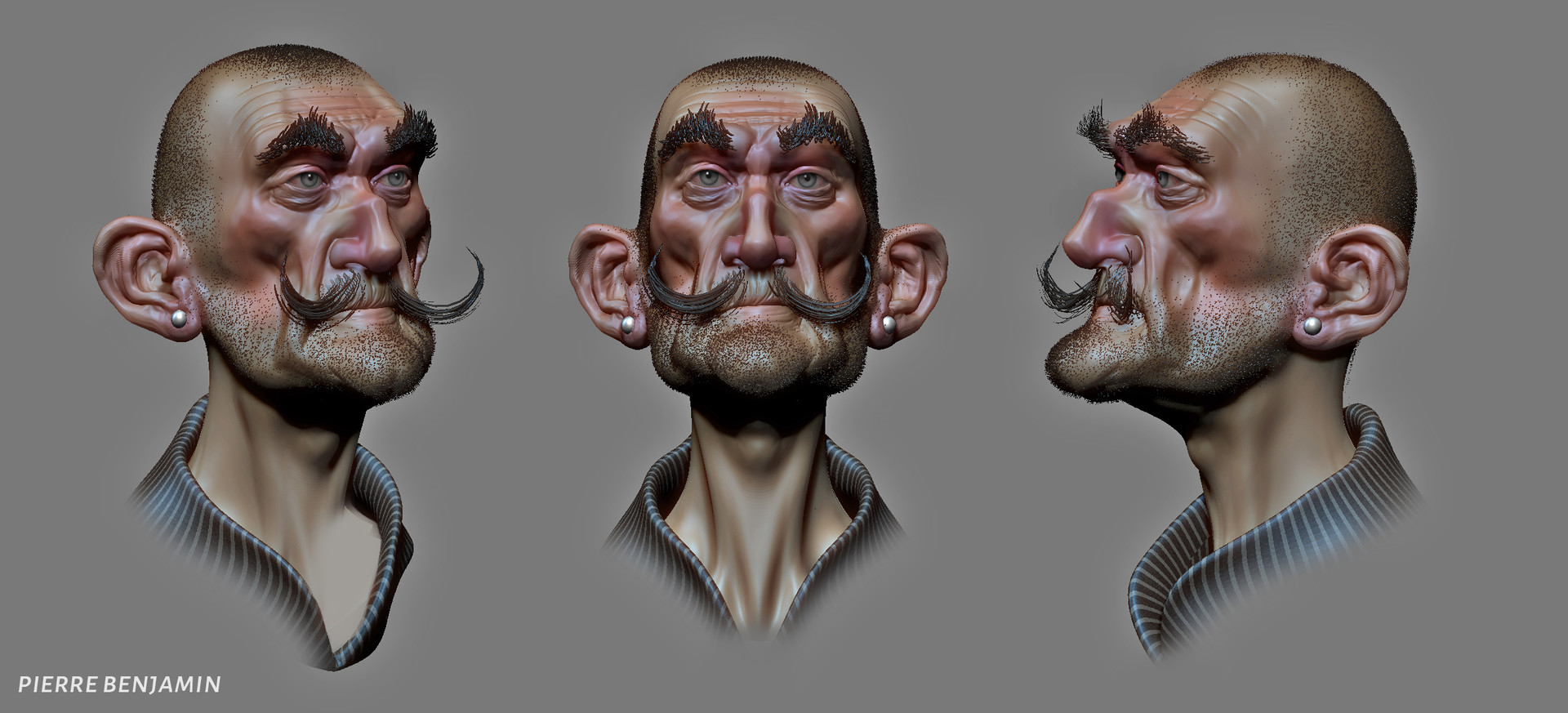 Pierre benjamin new shaved dude sculpt 001