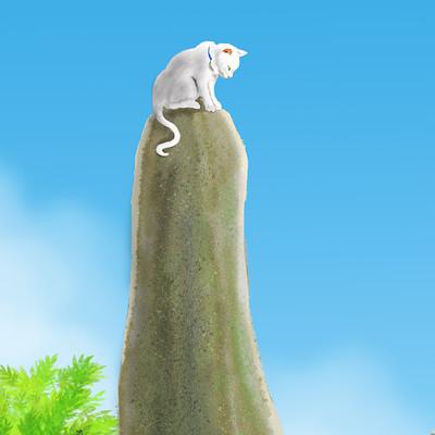 John steventon standing stone cat