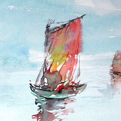 Emrullah cita boat watercolor
