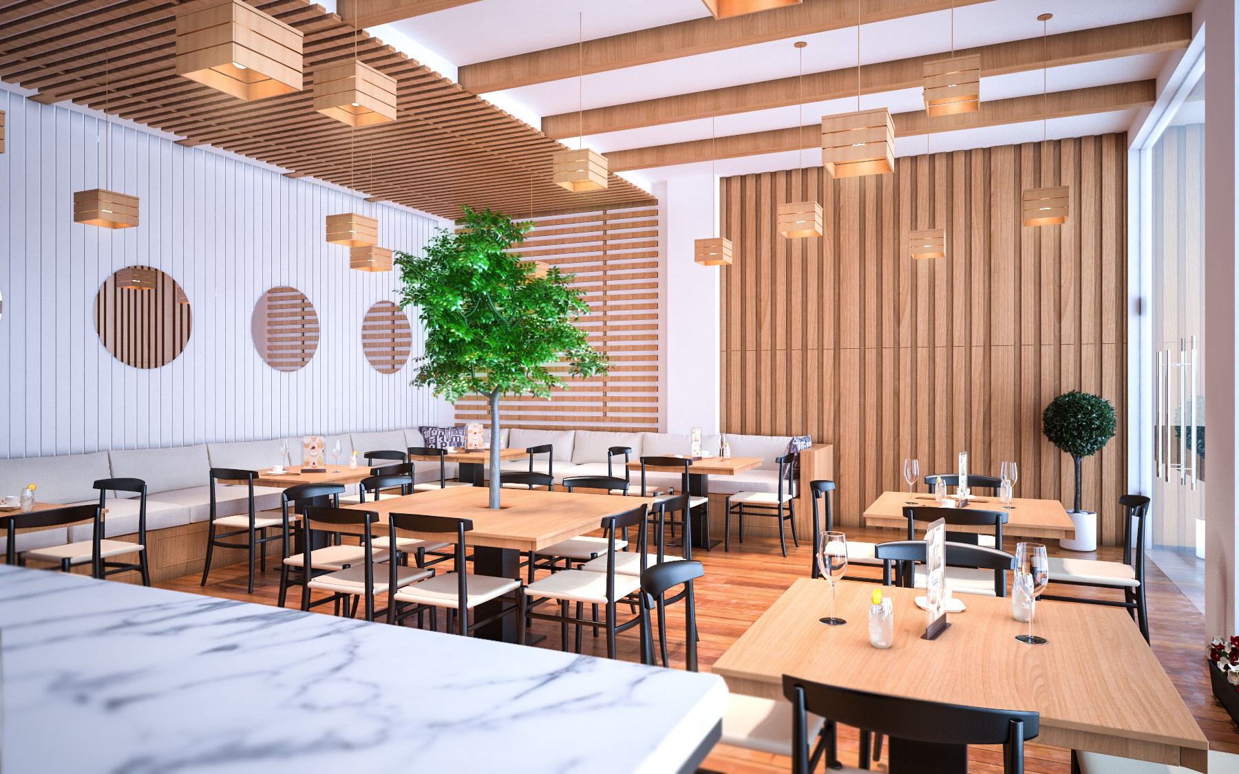 Tree Concept For Restaurant Design