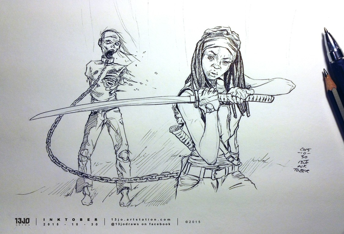 Michonne, one of my favourite characters from The Walking Dead TV series.