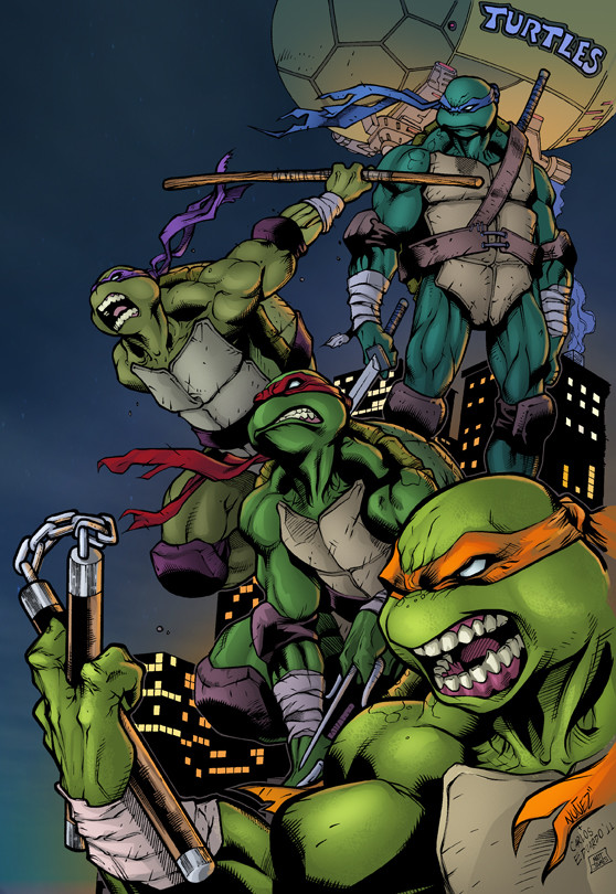 Matt james turtles inks by nanquilizador d4mrqeu vic55b fla by vic55b lr