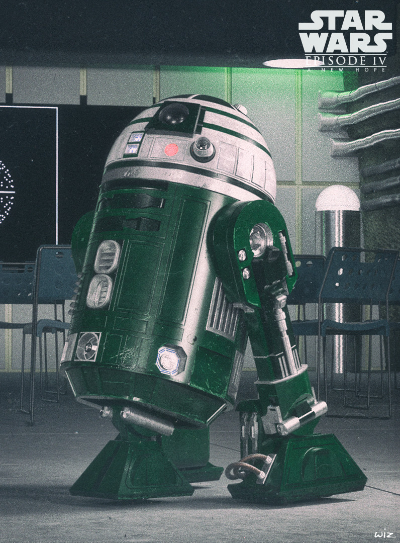 R2-X2 in the Briefing room Yavin IV