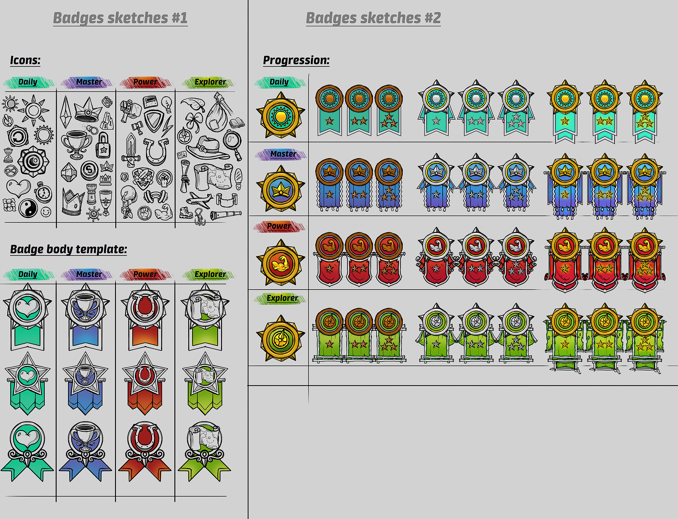 Badges sketches