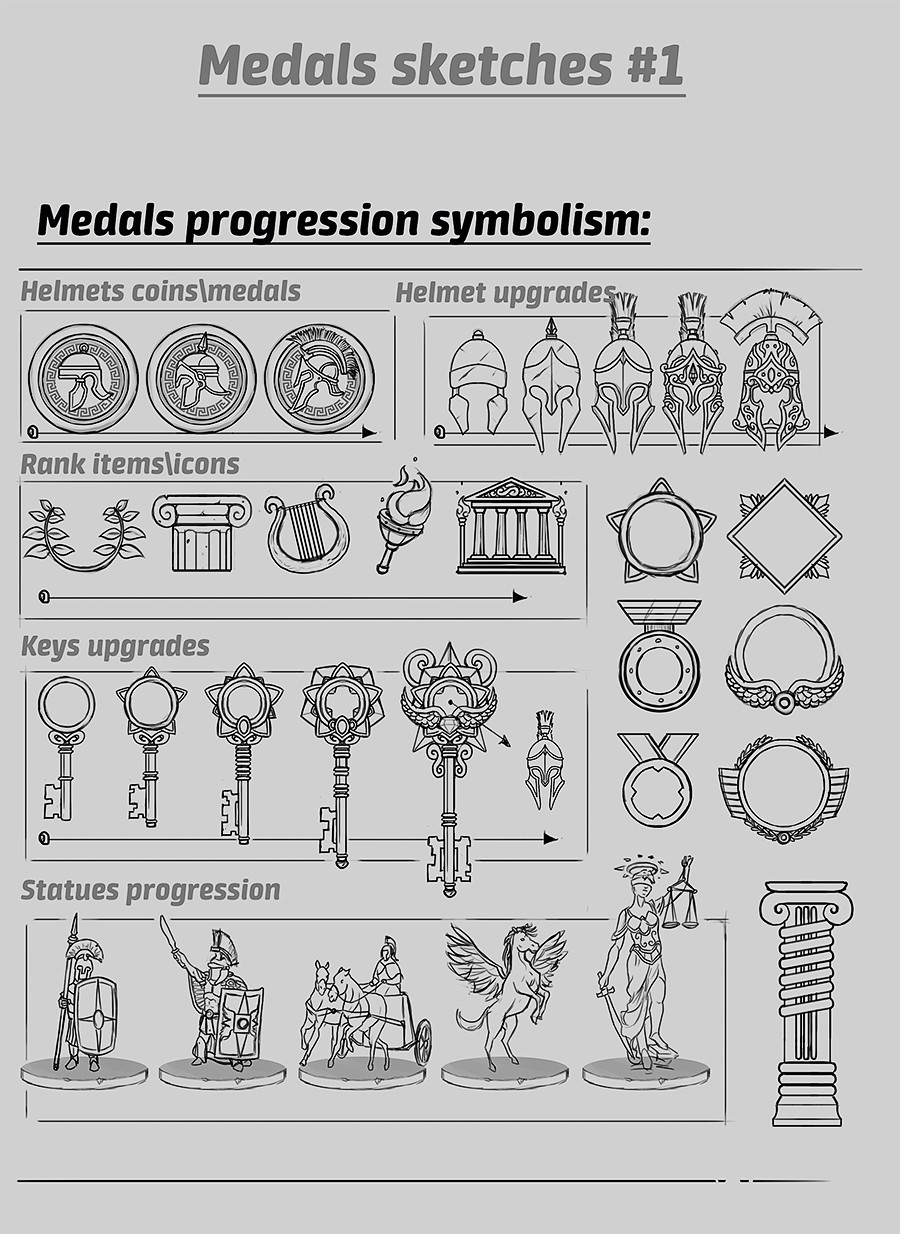Yaron granot medals sketches 1