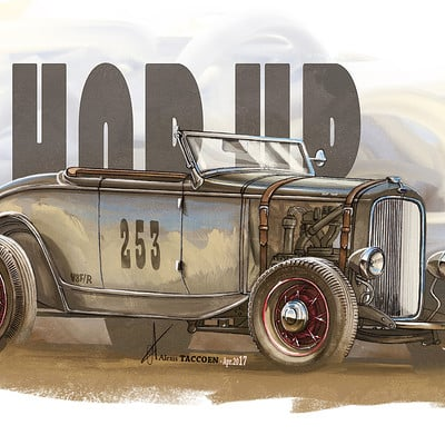 Alexis taccoen roadster 32 hot rod painting