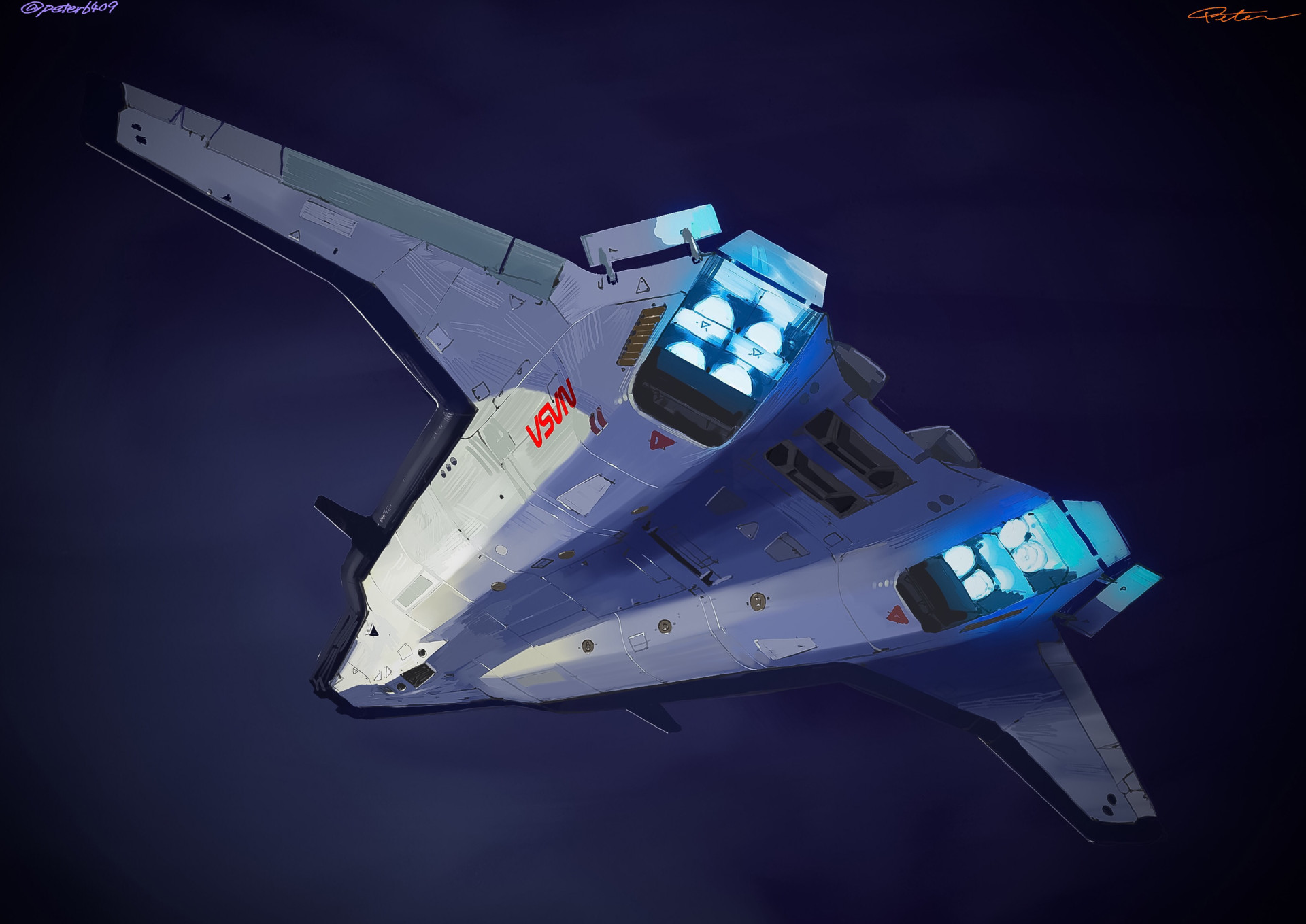 ArtStation Next Generation Space Shuttle Design E Wo