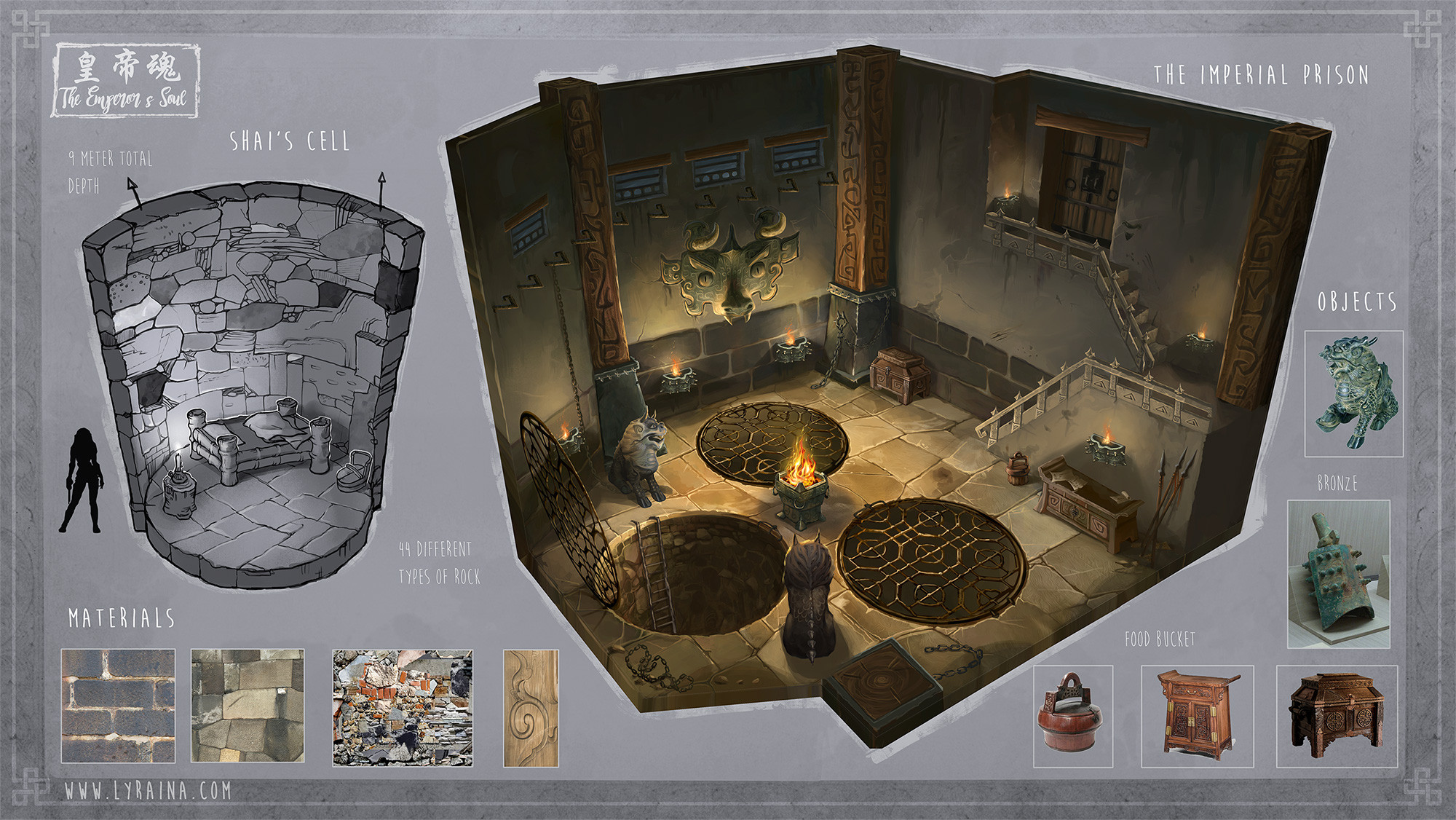Shai's Prison cell - specifically designed to hold people with magical abilities like hers.