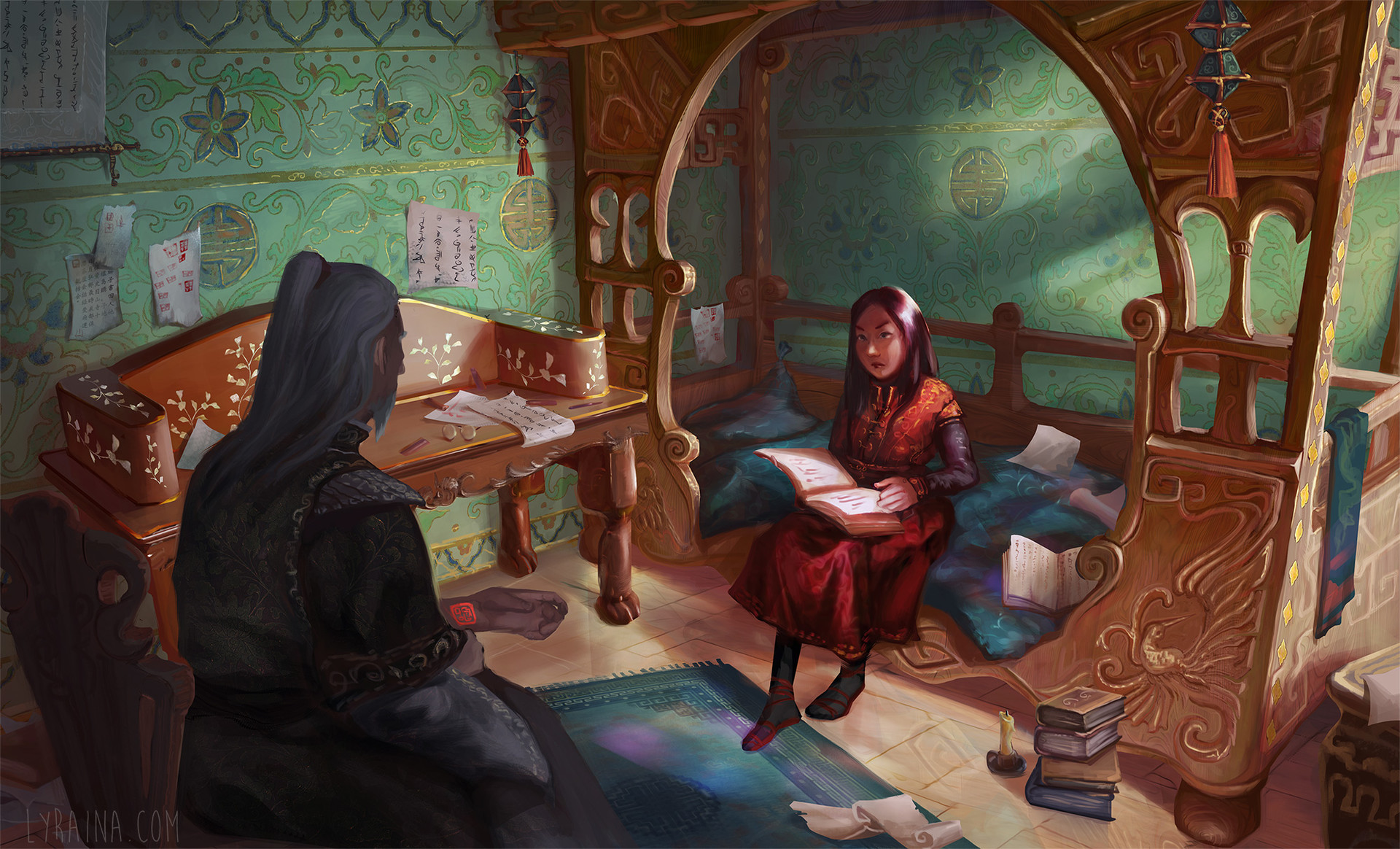Key Scene of Shai and Gaotona, in Shai's improved chamber.