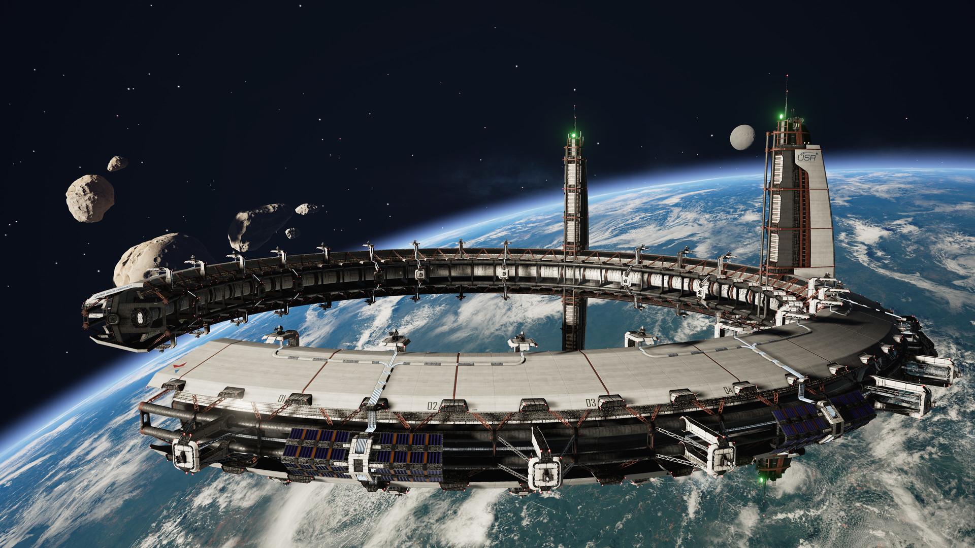 ArtStation Homebase Station Fractured Space Rob Blight