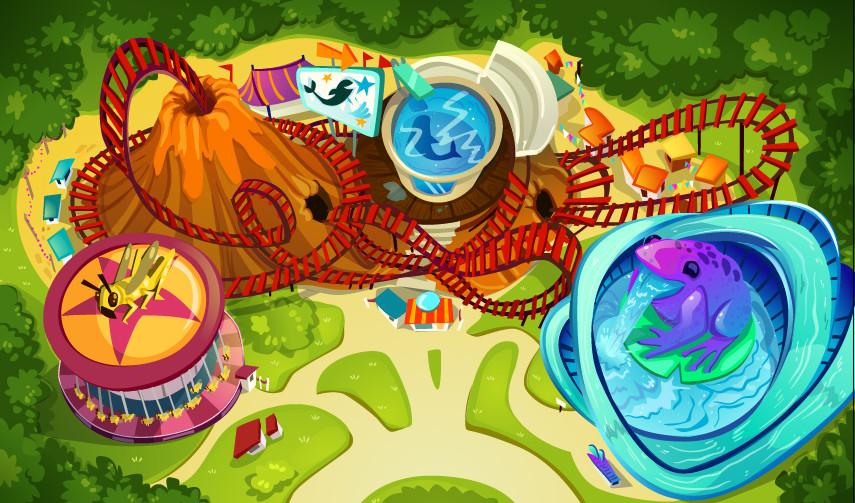Monica ion themeparkmap