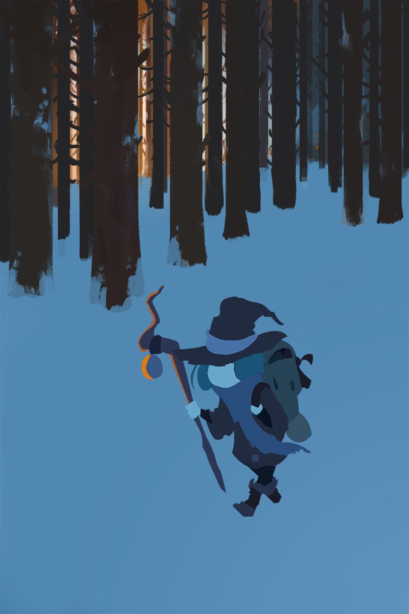 Monica ion snow forest walkwip01