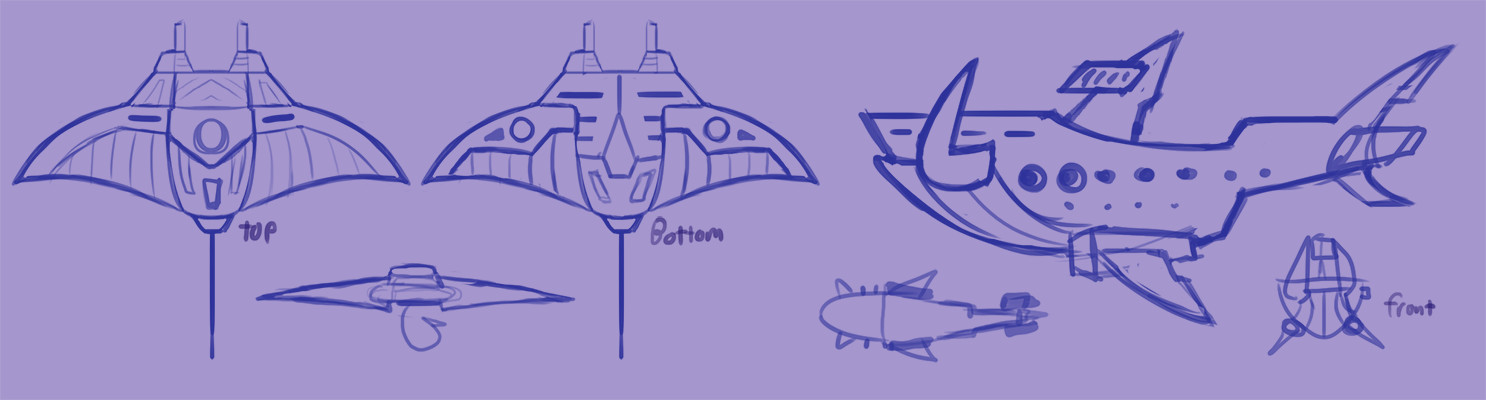 Manta Ship & BattleShoark