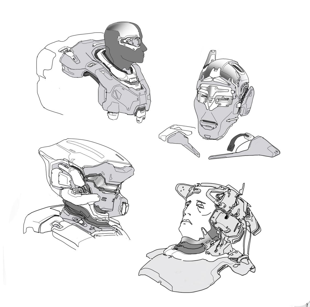 Random bust drawings
