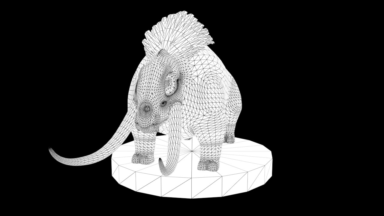 ArtStation - Media Specialist Practice - High to Low Poly Creature ...