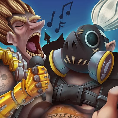Junkrat and Roadhog - Album Cover