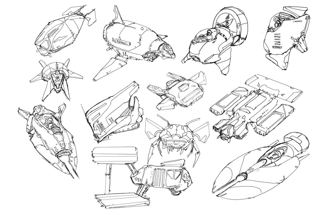 Danny kundzinsh aircraft sketches