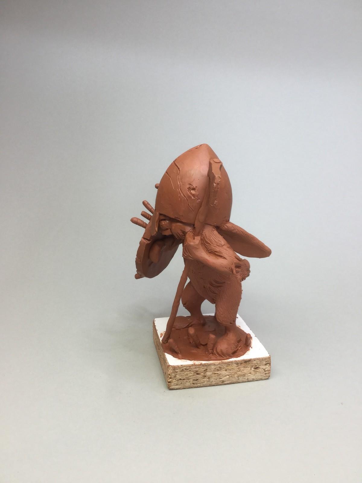 Rabbit/quick sketch plasticine/size 6 inches