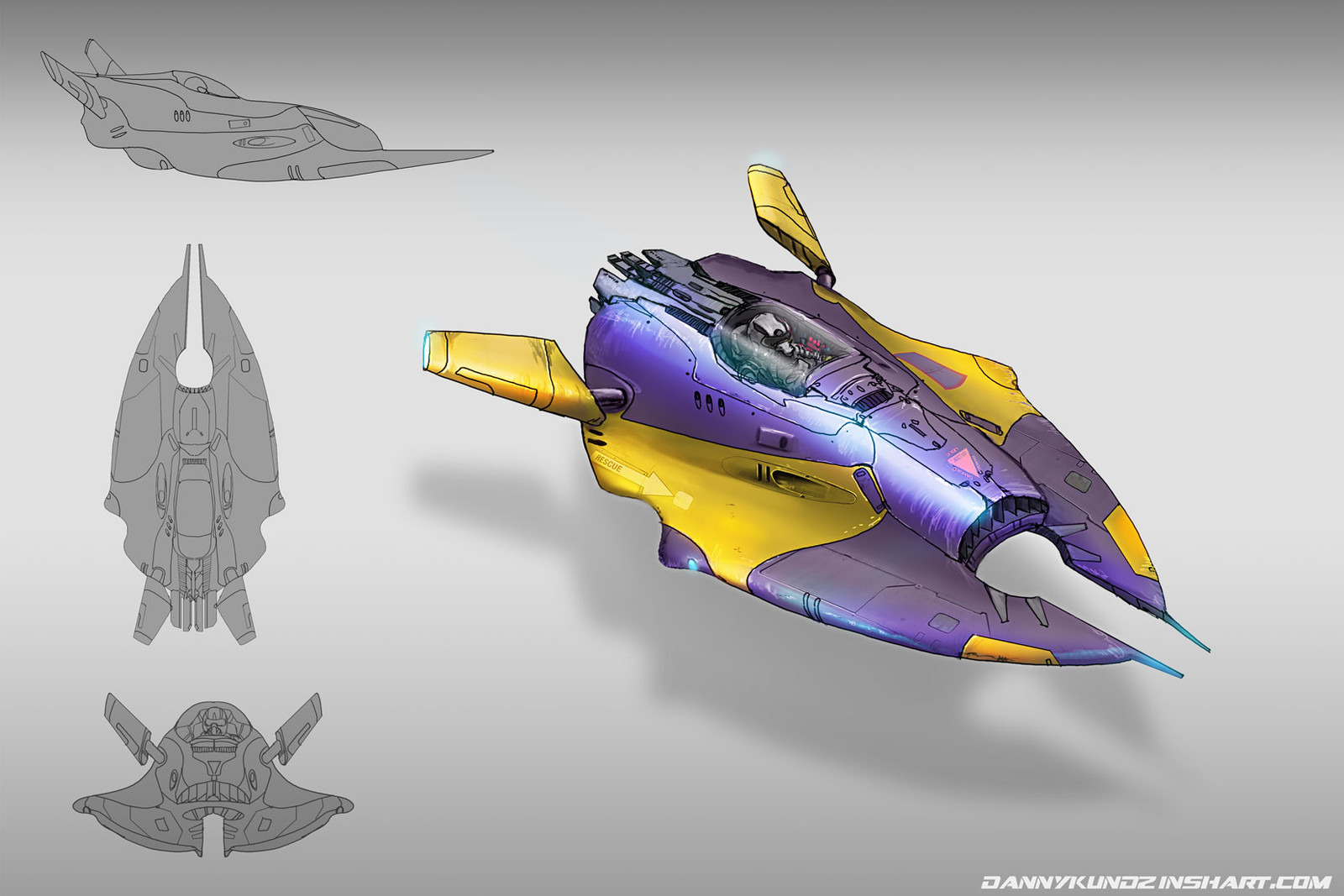 Racing aircraft concept art