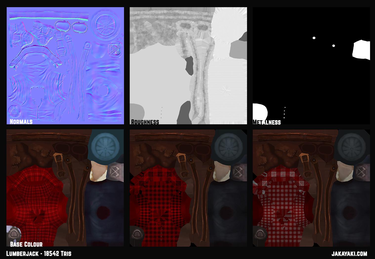 Jacqueline king jakayaki lumberjack texturemap