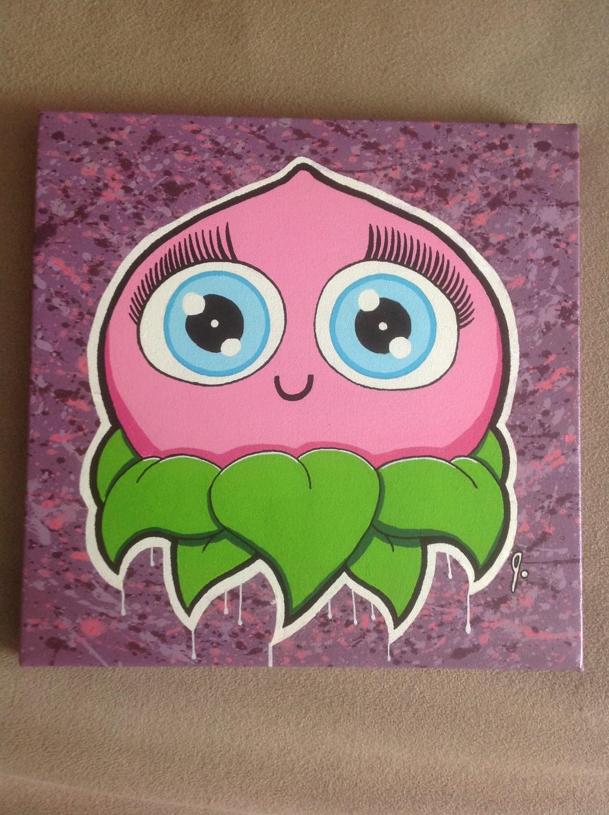 'Pretty Peach' 12x12 canvas Status: For Sale