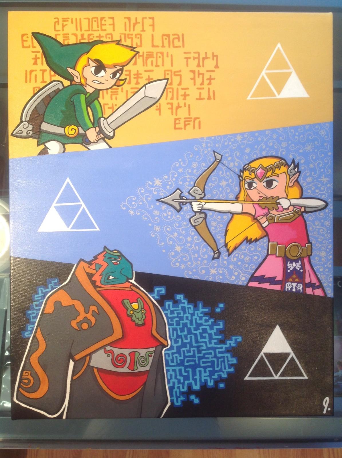 'Triforce' 16 x 20 canvas Status: For Sale