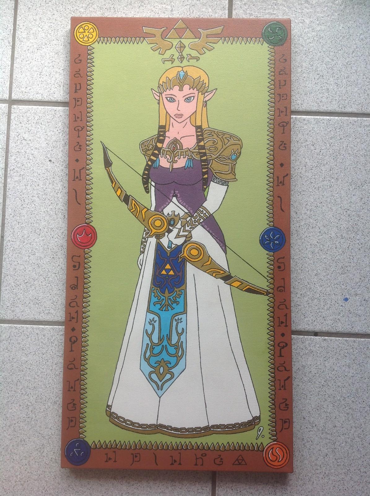 `Princess Zelda`  12x24 canvas Status: Sold! (Requested)
