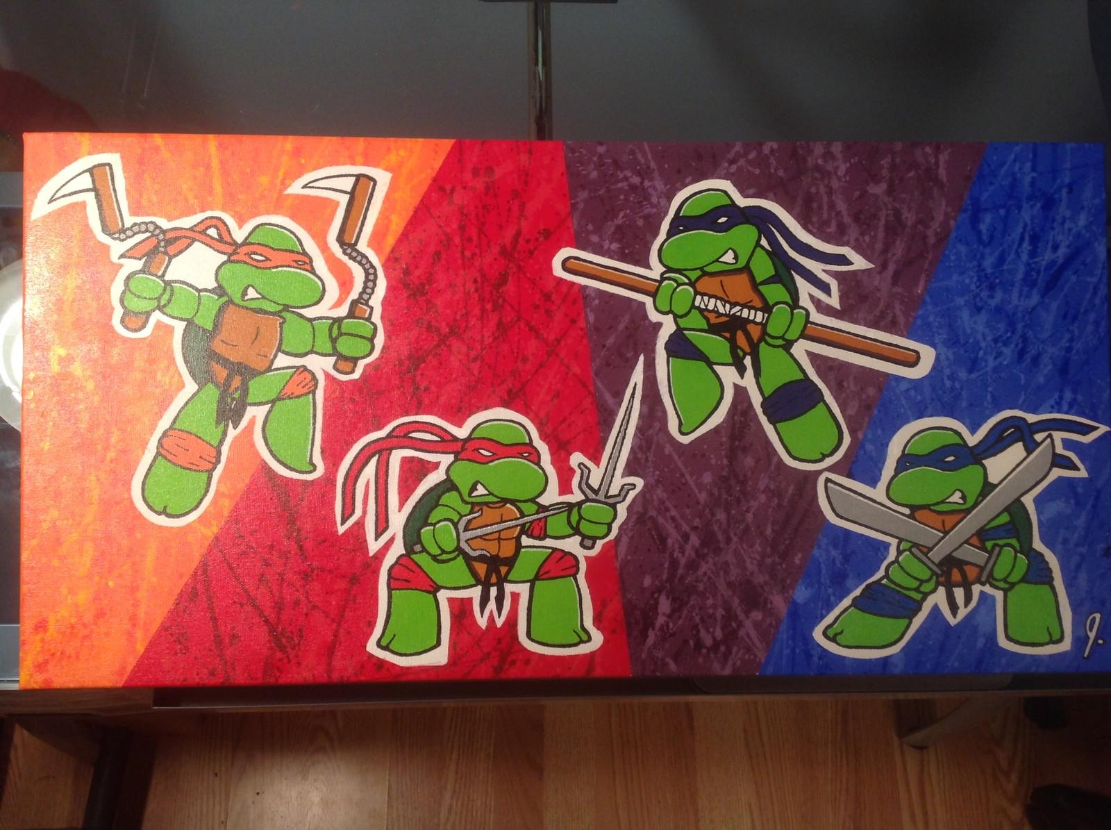 'Turtle Power!' 12 x 24 canvas Status: For Sale