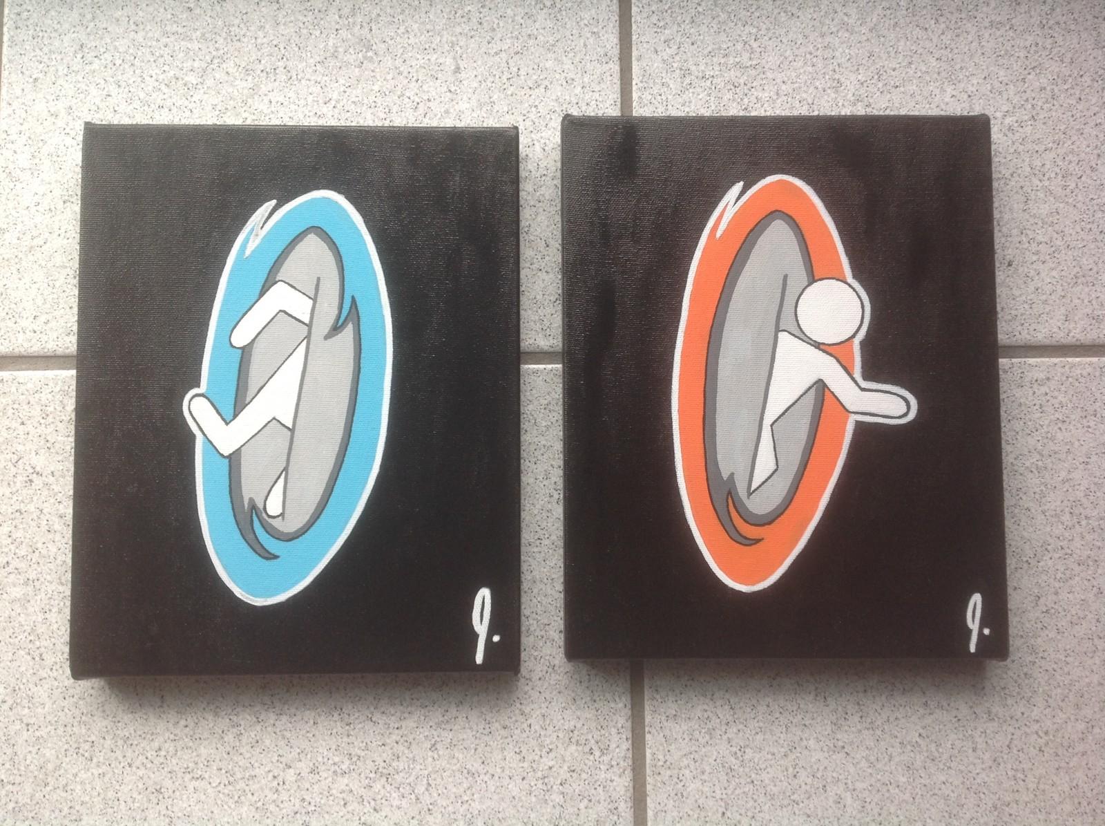 `Portal`  8x10 (each canvas) Status: Sold!