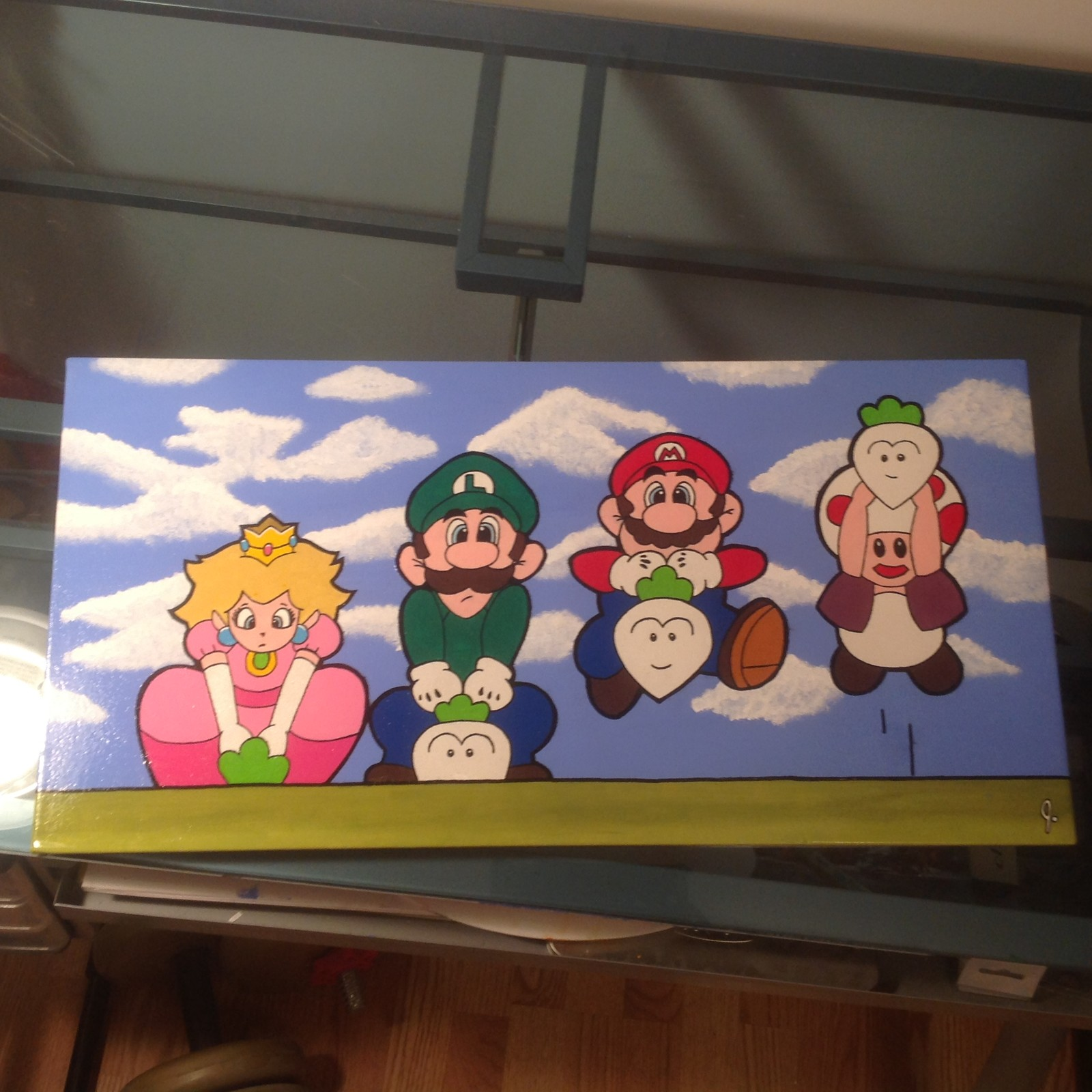 Pluckin' Turnips (Super Mario Bros. 2) 12 x 24 canvas Status: For Sale