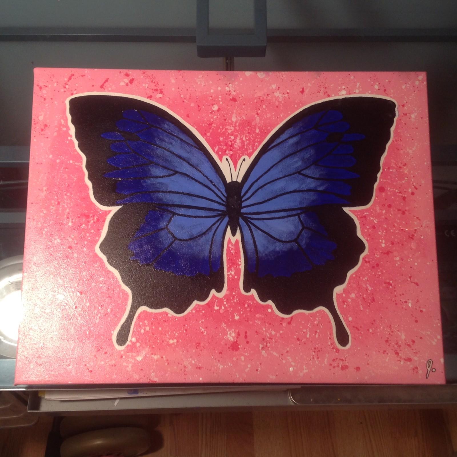 'Flutterby' 14 x 18 canvas Status: For Sale